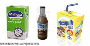 Le lait Mimosa, le lait chocolaté UCAL et la brique Nesquik
