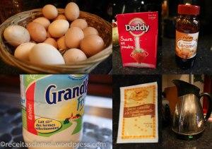 Les ingrédients pour le pudding